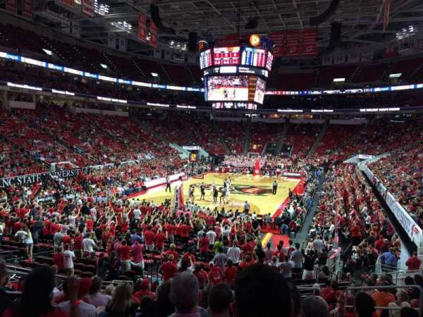 PNC Arena, section: 125, row: W, seat: 7