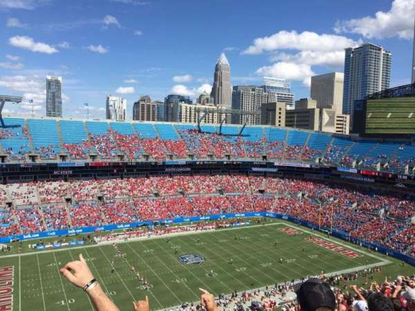Bank of America Stadium, section: 545, row: 23, seat: 19