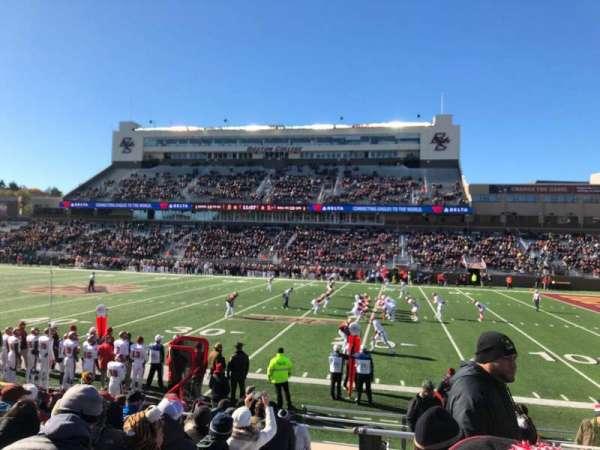 Alumni Stadium, section: S, row: 16, seat: 1
