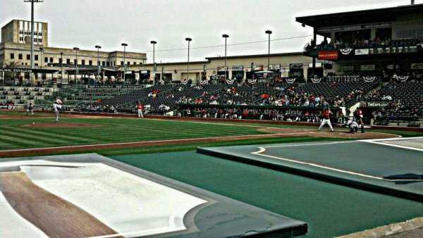 Parkview Field, section: 113, row: G, seat: 9