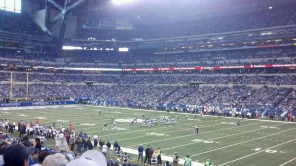 Lucas Oil Stadium, section: 109, row: 24, seat: 1