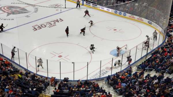 Nationwide Arena, section: 213, row: A, seat: 8