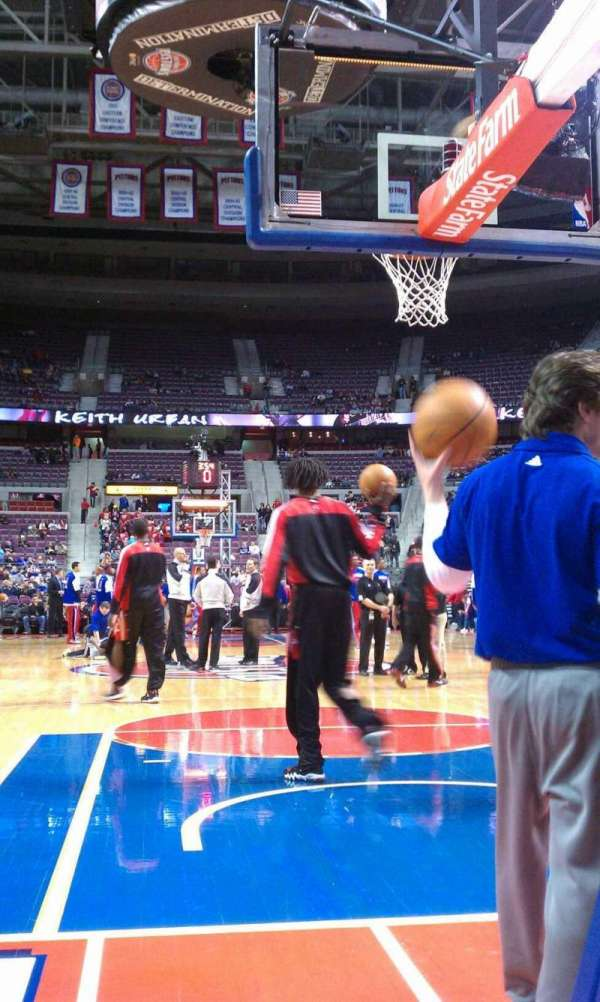 The Palace of Auburn Hills, section: 101, row: 1, seat: 4