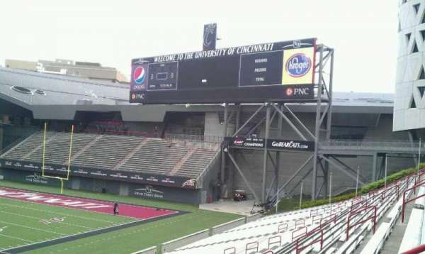 Nippert Stadium, section: 107, row: 32, seat: 8