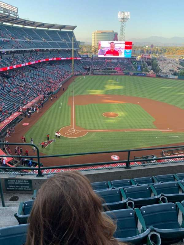 Angel Stadium, section: 423, row: E, seat: 2
