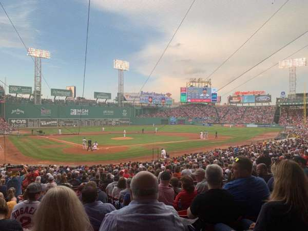 Fenway Park, section: Loge Box 128, row: LL, seat: 2