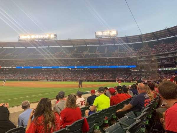 Angel Stadium, section: F107, row: D, seat: 18