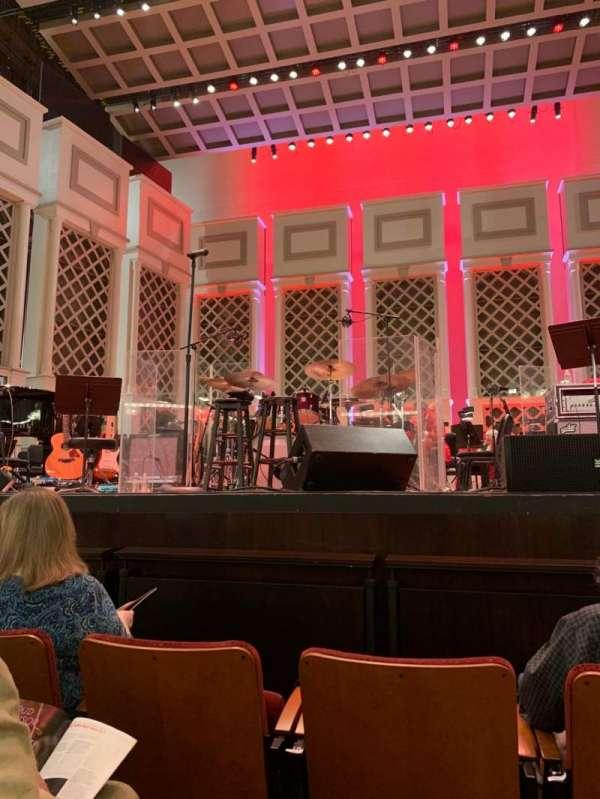 Cincinnati Music Hall, section: ORCH, row: CC, seat: 201
