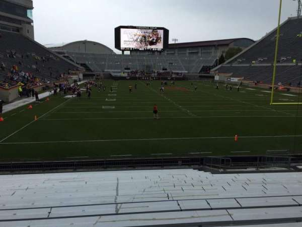 Lane Stadium, section: 104, row: R, seat: 16