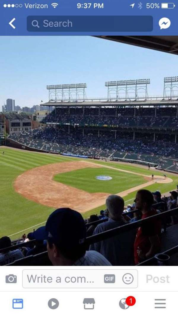 Wrigley Field, section: 407L, row: 7, seat: 7