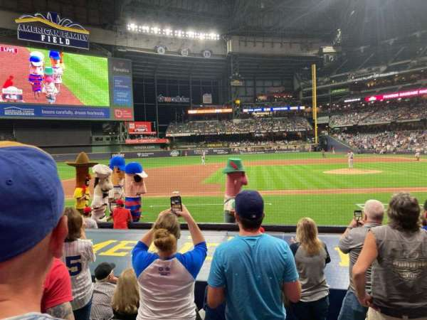 American Family Field, section: 122, row: 9, seat: 12
