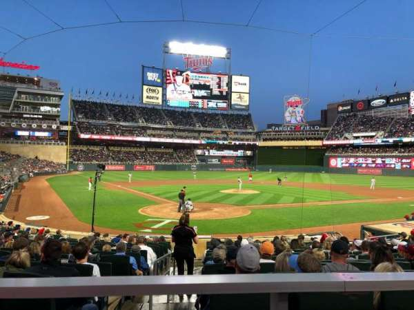 Target Field, section: 112, row: 1, seat: 5