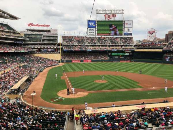 Target Field, section: E, row: 1, seat: 8