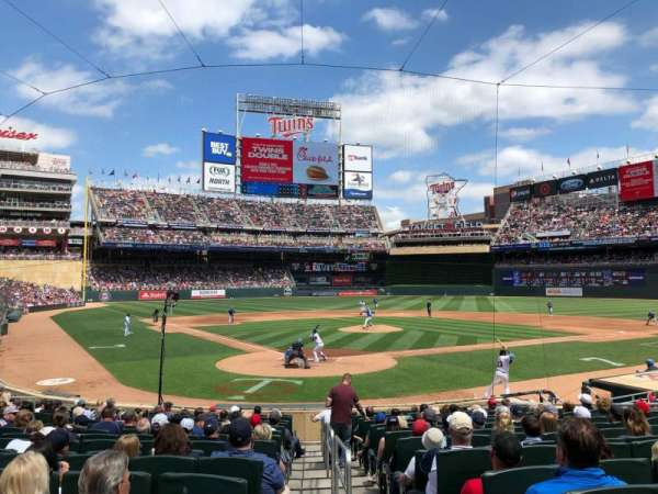 Target Field, section: 112, row: 1, seat: 8
