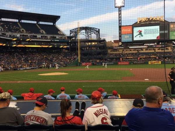 PNC Park, section: 10, row: K, seat: 9