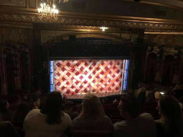 Brooks Atkinson Theatre, section: Rear Mezzanine LC, row: L, seat: 126
