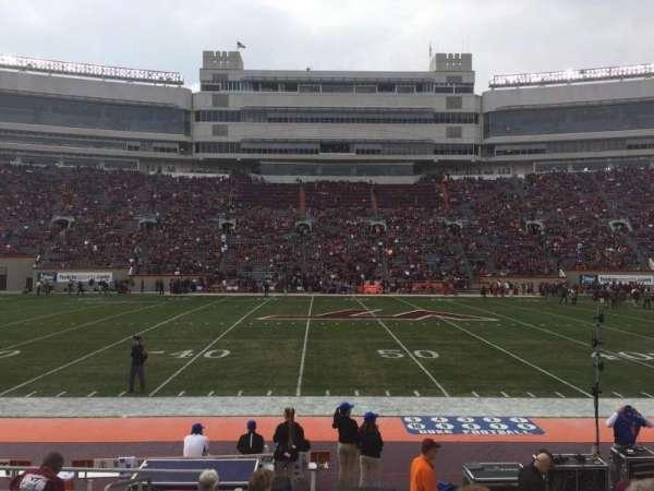 Lane Stadium, section: 11, row: K, seat: 2