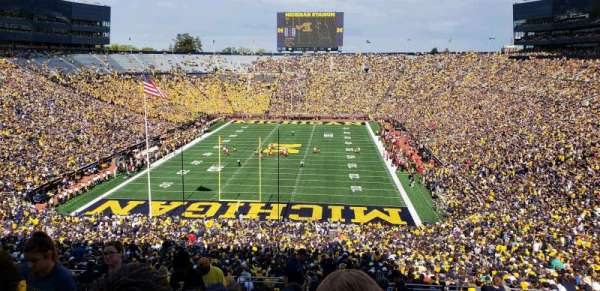 Michigan Stadium, section: 11, row: 88, seat: 13