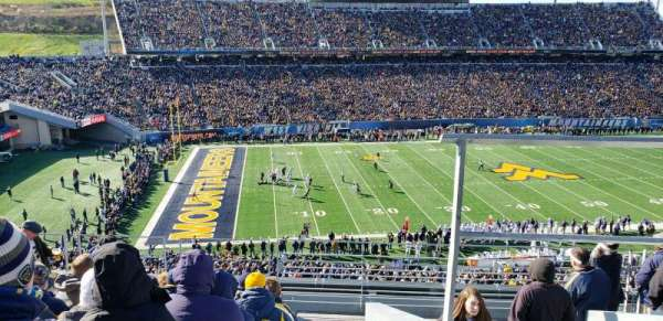 Mountaineer Field, section: 203, row: 9, seat: 2