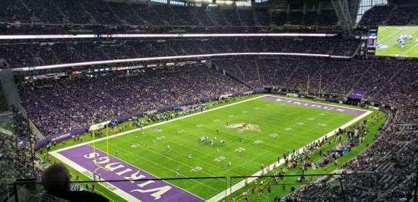 U.S. Bank Stadium, section: 349, row: E, seat: 3