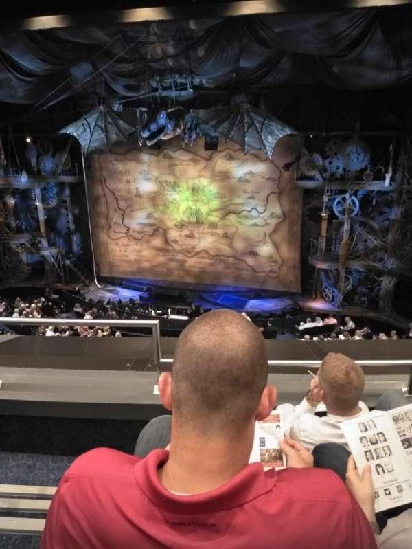 Gershwin Theatre, section: Front Mezzanine R, row: C, seat: 2