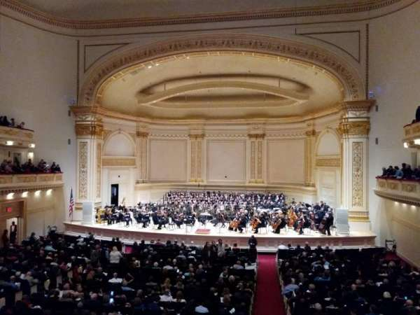 Carnegie Hall, section: Box 29, row: 1, seat: 3