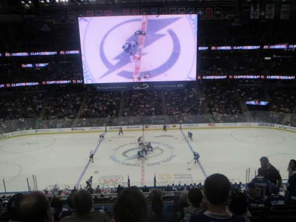 Amalie Arena, section: 201, row: H, seat: 5