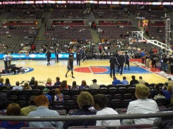 The Palace of Auburn Hills, section: 126, row: B, seat: 10