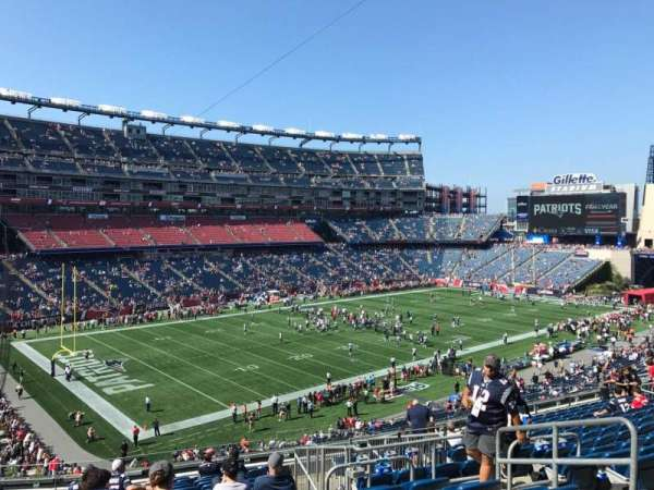 Gillette Stadium, section: 215, row: 16, seat: 6