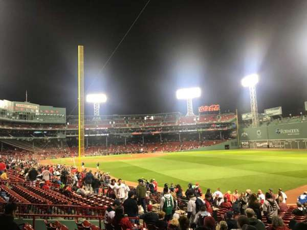 Fenway Park, section: Right Field Box 90, row: RR, seat: 17