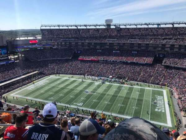 Gillette Stadium, section: 306, row: 24, seat: 21