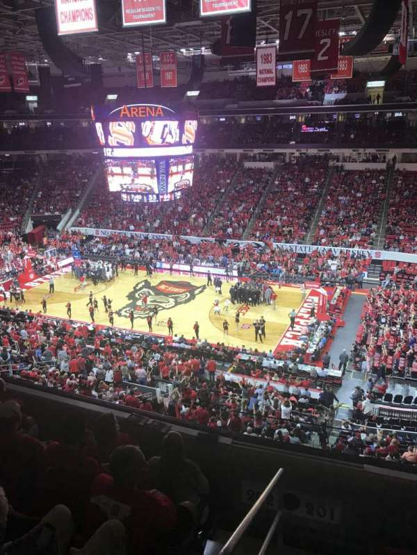 PNC Arena, section: 201, row: D, seat: 22