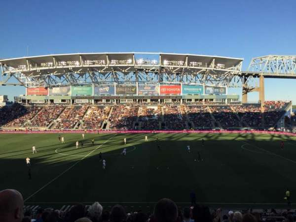 Talen Energy Stadium, section: 106, row: Z, seat: 6