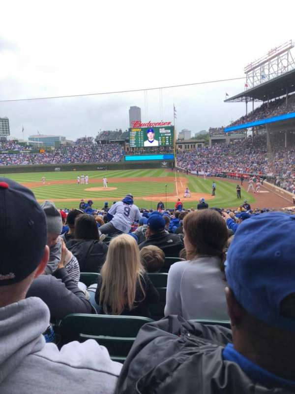 Wrigley Field, section: 117, row: 15, seat: 8