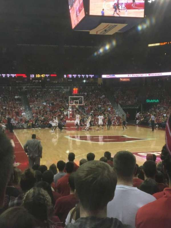 Kohl Center, section: 116, row: KK, seat: 9