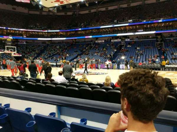 Smoothie King Center, section: 124, row: 6, seat: 5