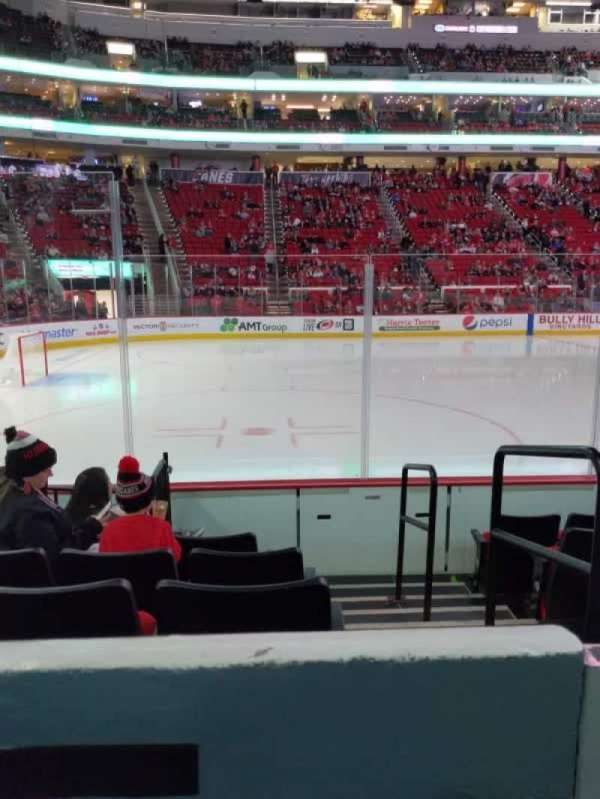 PNC Arena, section: 107, row: f, seat: 1