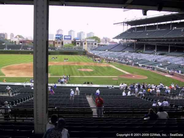 Wrigley Field, section: 215, row: 9, seat: 114