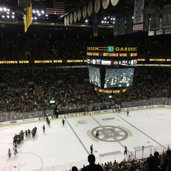 TD Garden, section: BAL 318, row: 8, seat: 7