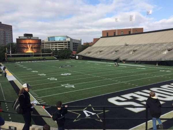 Vanderbilt Stadium, section: I, row: 5, seat: 5