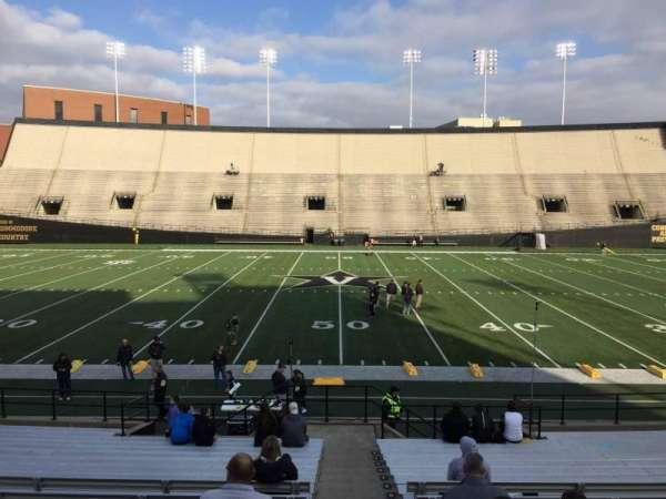 Vanderbilt Stadium, section: D, row: 18, seat: 7