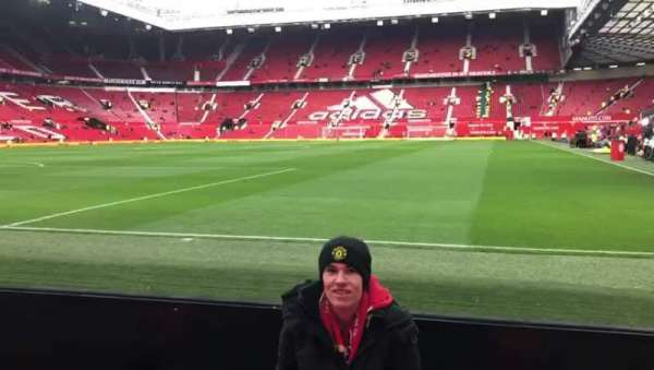 Old Trafford, section: w106, row: AA, seat: 45