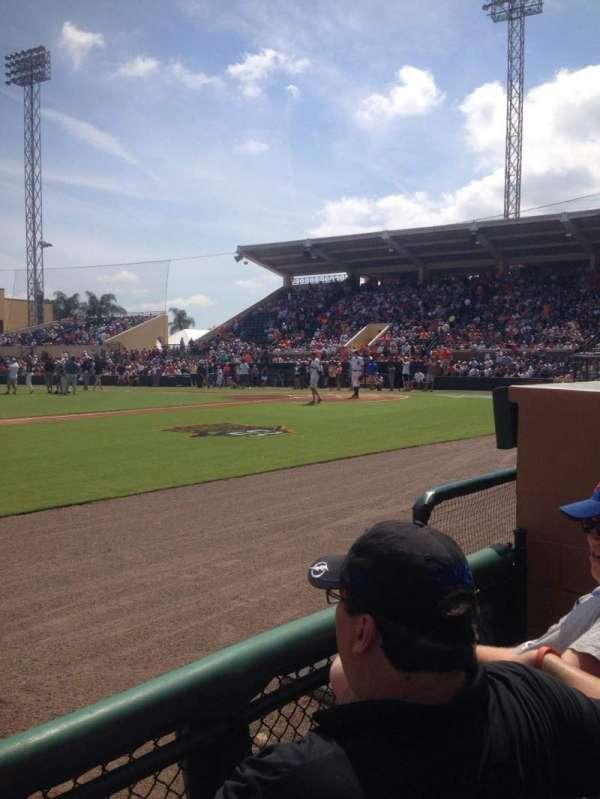 Joker Marchant Stadium, section: 111, row: Ee, seat: 5