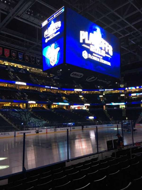 Amalie Arena, section: 103, row: H, seat: 15