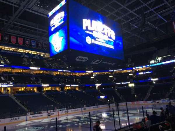 Amalie Arena, section: 103, row: J, seat: 12