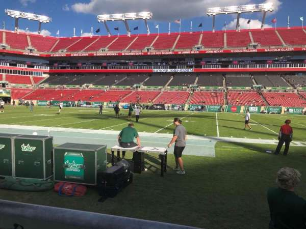 Raymond James Stadium, section: 112, row: A, seat: 20