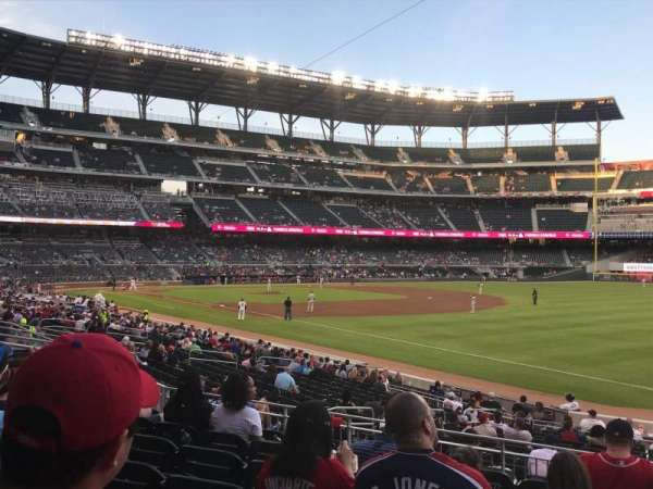 Truist Park, section: 112, row: 7, seat: 1