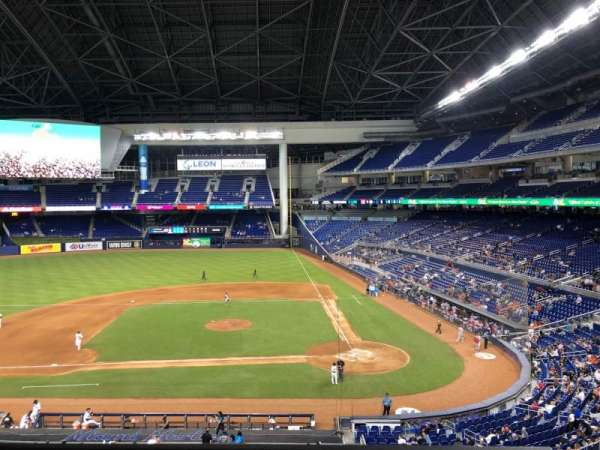 Marlins Park, section: 219, row: 1, seat: 15
