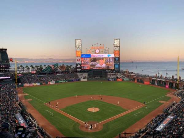 Oracle Park, section: VR315, row: F, seat: 2