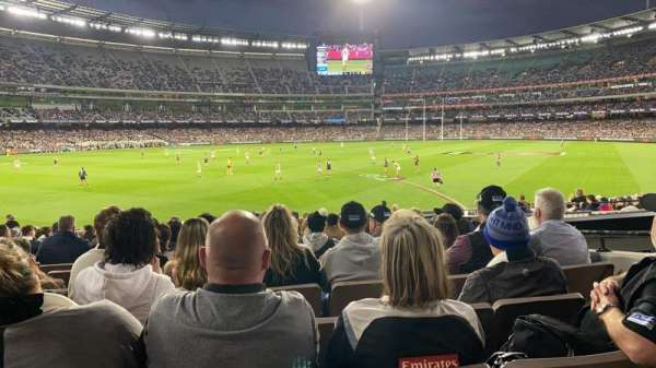 Melbourne Cricket Ground, section: M28, row: X, seat: 17